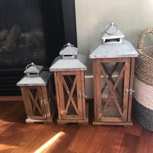 Other - Wood and Metal Lantern / Candle Holder